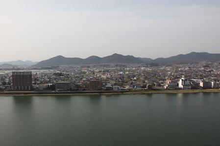 犬山城 天守閣から北側の展望