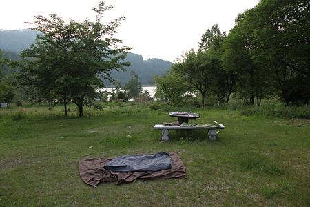 大池キャンプ場でぼーぜん