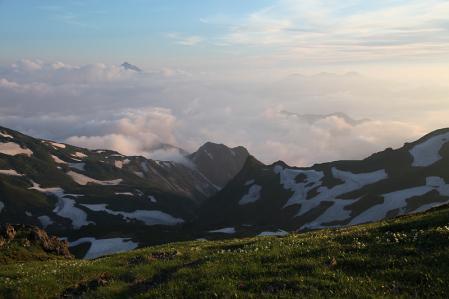 丸山からの夕景(剣を望む)