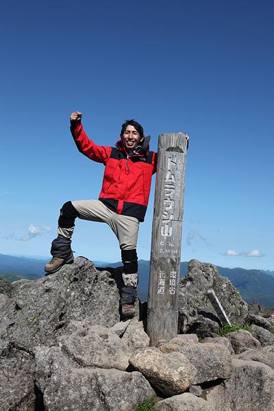 トムラウシ山頂にて