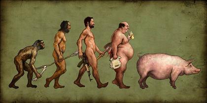 人類の進化(猿からブタへ)