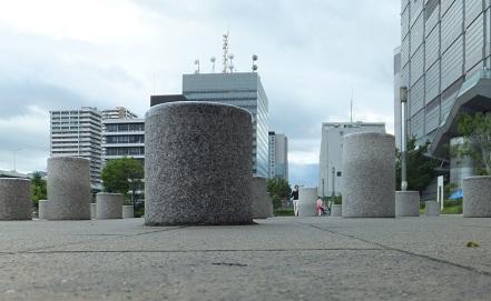 難波宮遺跡柱跡