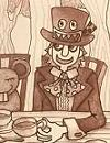 不思議な帽子屋(イラスト)