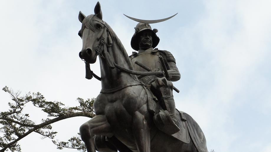 政宗銅像の3