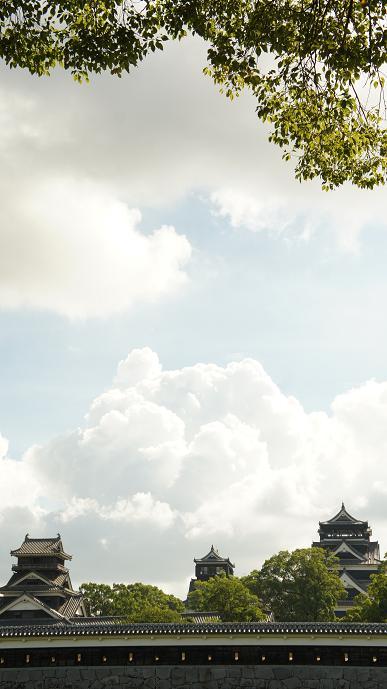 空と雲と天守閣たち・・