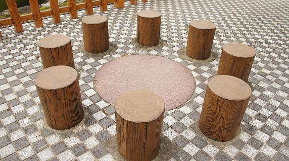 九曜紋の椅子