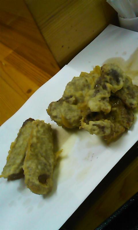和牛スジ肉とコンニャクの天ぷら