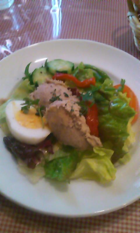 豚リエットのサラダ