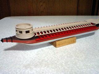 円筒形船首楼仮組み