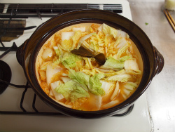 鶏むね肉キムチ鍋21