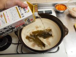 サーモンカマと鶏団子の豆乳24