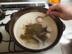 サーモンカマと鶏団子の豆乳29