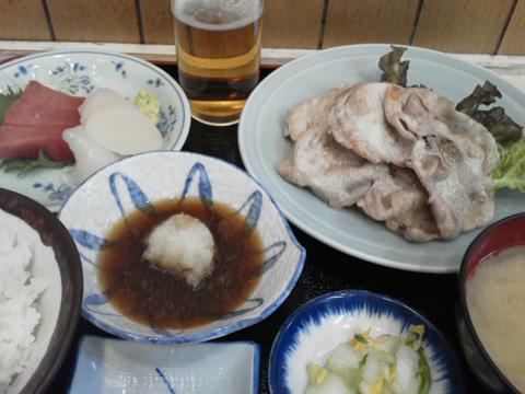 豚ロース焼き・刺身定食