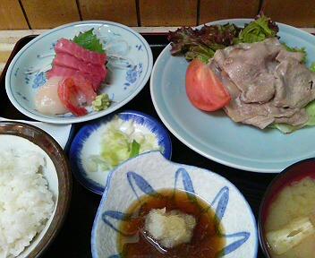 豚ロース焼き&刺身定食