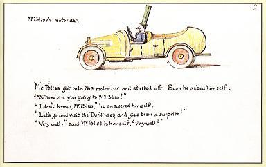 ブリスさんのクルマの挿絵とトールキンの味わい深い自筆の原文