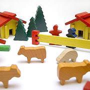 デュシマ社『ミニどうぶつ積み木 スイスの家』