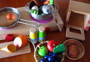 ままごと玩具 食器と食材