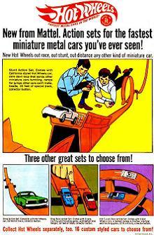 Hot Wheels Actionの広告(1968)