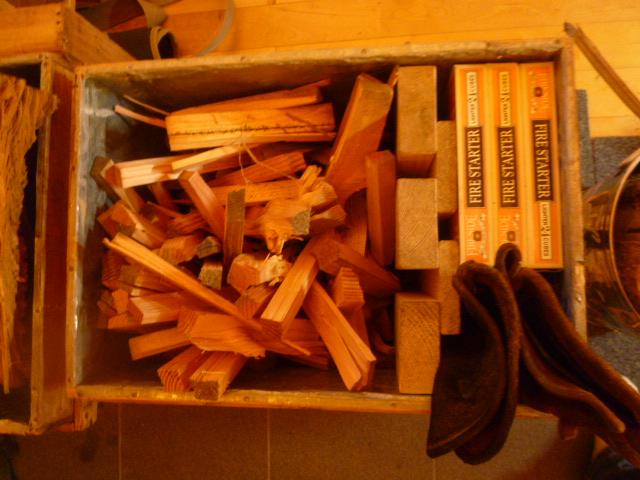 焚き付け用の箱