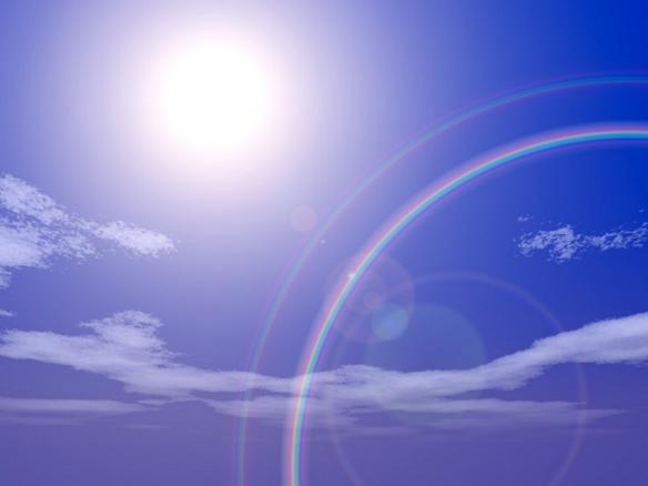 明るい未来を引き寄せる虹