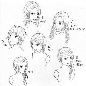ヒロイン髪型案