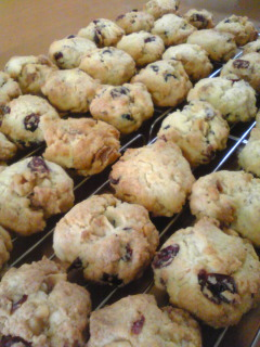 クランベリーとホワイトチョコチップクッキー