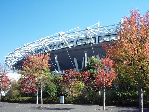 スタジアムの秋1