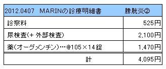 2012.04.07診療明細書【MARIN】
