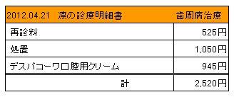 2012.04.21診療明細書【凛】