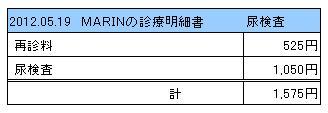 2012.05.19診療明細書【MARIN】