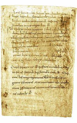 250メルゼブルクの呪文とは古高ドイツ語で書かれた2編から成る中世の魔法、呪文、まじないである。