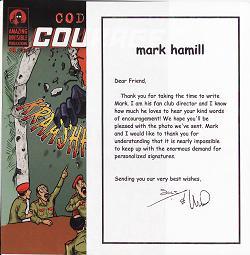 Mark Hamill memo