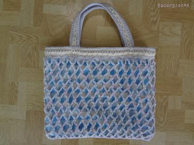 編みバッグ1