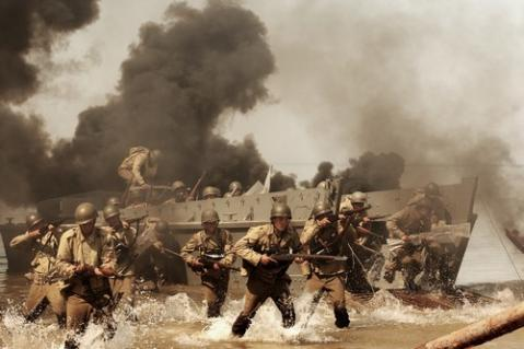 ノルマンディー上陸作戦のシーン