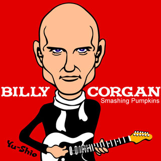 Billy Corgan Smashing Pumpkins caricature