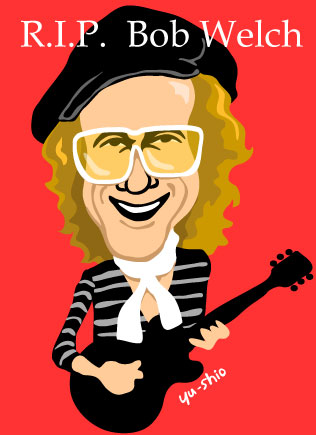 Bob Welch Paris Fleetwood Mac caricature