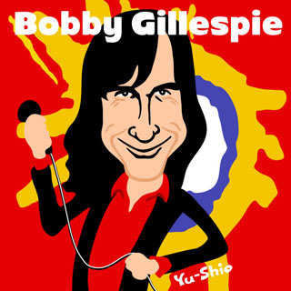 Bobby Gillespie Primal Scream caricature