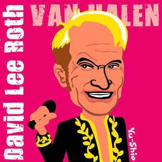 David Lee Roth Van Halen caricature