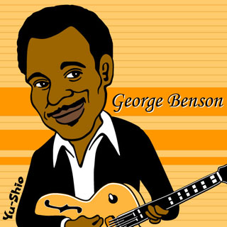 George Benson caricature