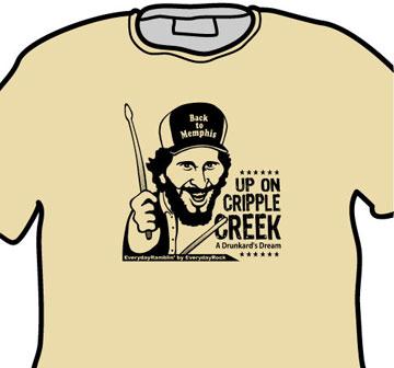 Levon Helm The Band EverydayRock T Shirt Caricature