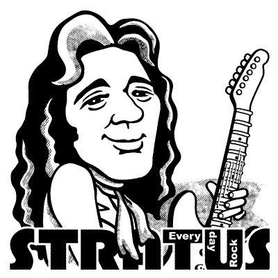Tommy Bolin EverydayRock T Shirt caricature