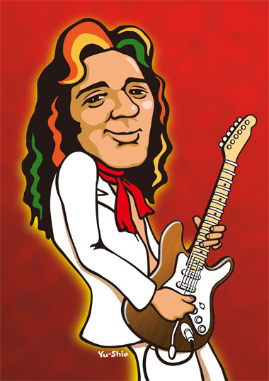 Tommy Bolin caricature