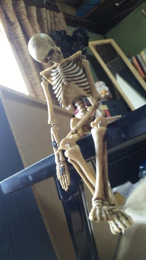 skullfie座る
