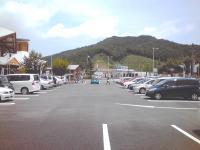道の駅「あぐり窪川」向こうの法面は高速道路への入口