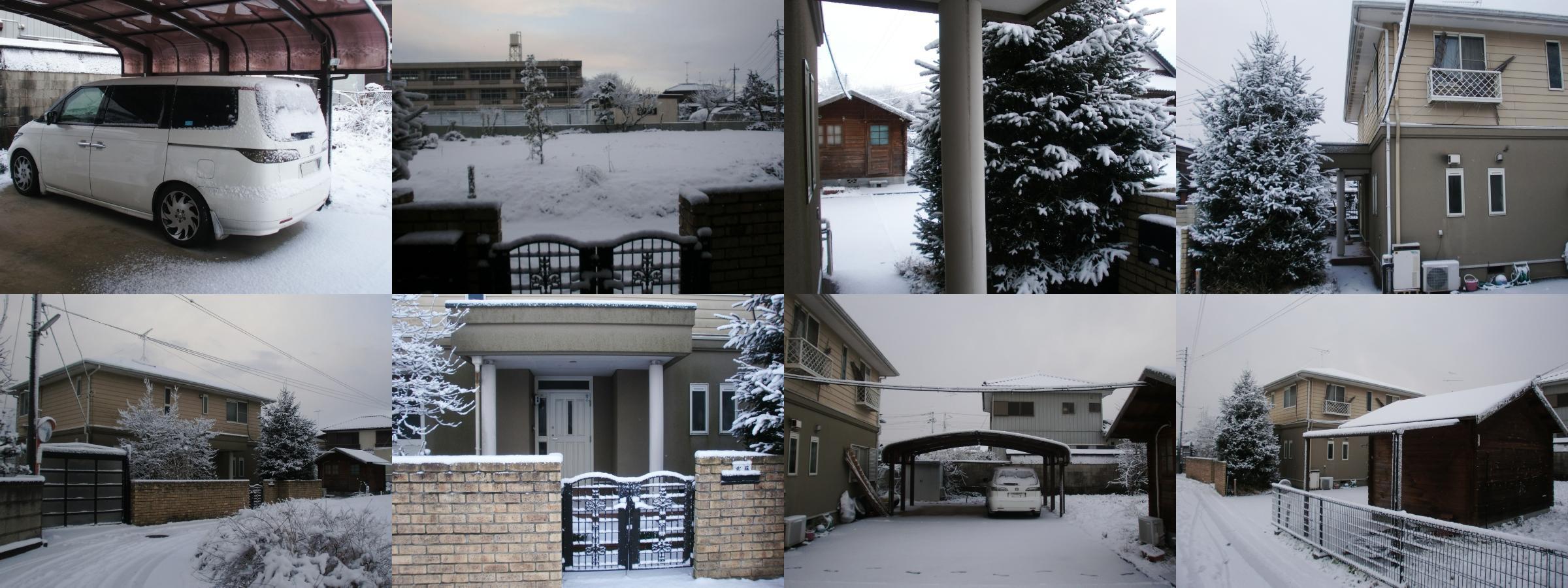 2011年1月16日8時頃まで、茨城県石岡市は、雪が降ってました!