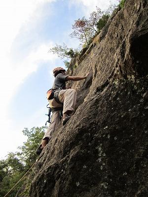 烏帽子岩クライミング