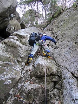 比良山系中ノ谷αルンゼアイゼントレーニング