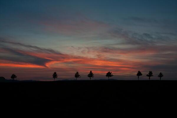 黒雲の夕焼け 20日撮影