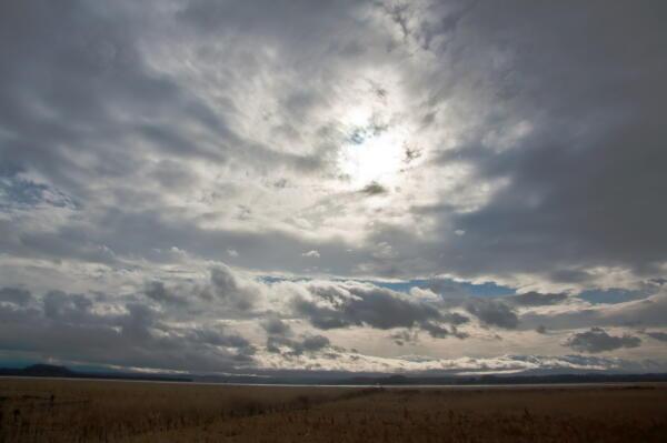 南からの雲