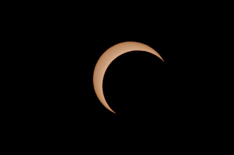 網走の部分日食